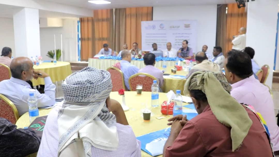 """وزارة الزراعة ومنظمة """"الفاو"""" تنظمان ورشة عمل حول اختيار وتحصين المواشي بعدن"""