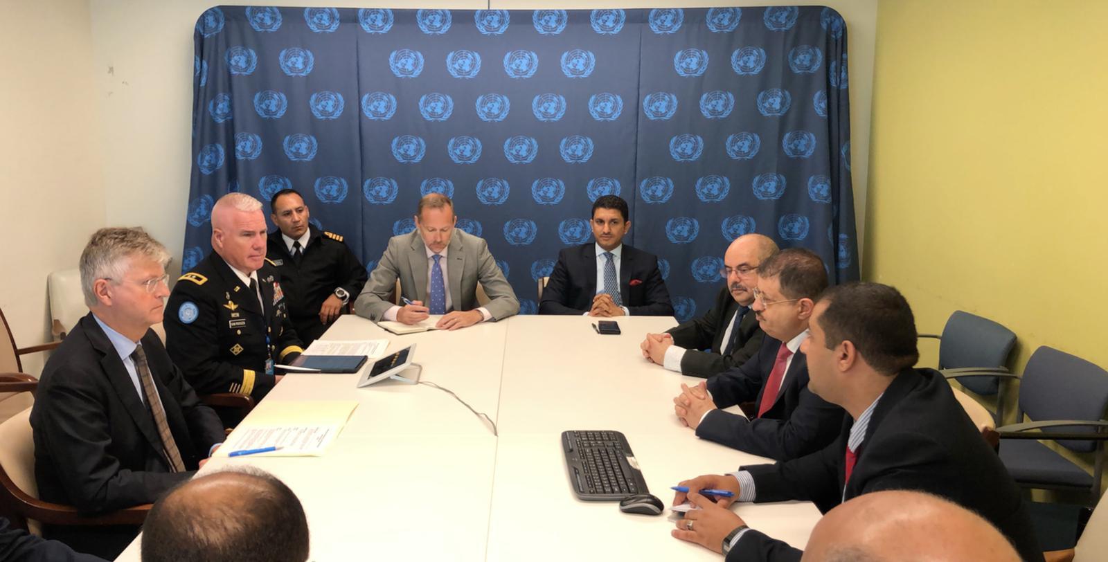 وزير الدفاع يناقش في نيويورك جهود الدول الأعضاء في دعم الامن والسلام الدوليين